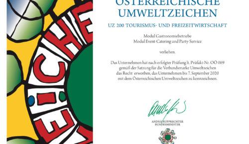 Livingbistro event- und messecatering GmbH Österreichisches Umweltzeichen